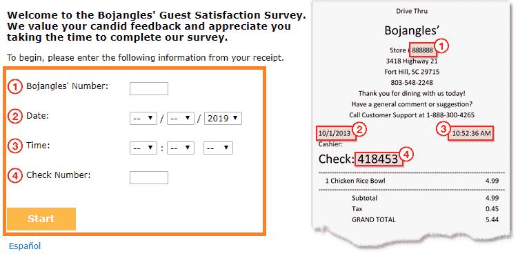 bojangles survey free sausage and biscuit